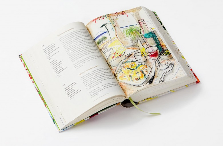 Book cooking recipes illustration drawings Simone_Ortega Phaidon Javier Mariscal