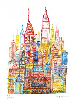 JavierMariscal NY Watercolor