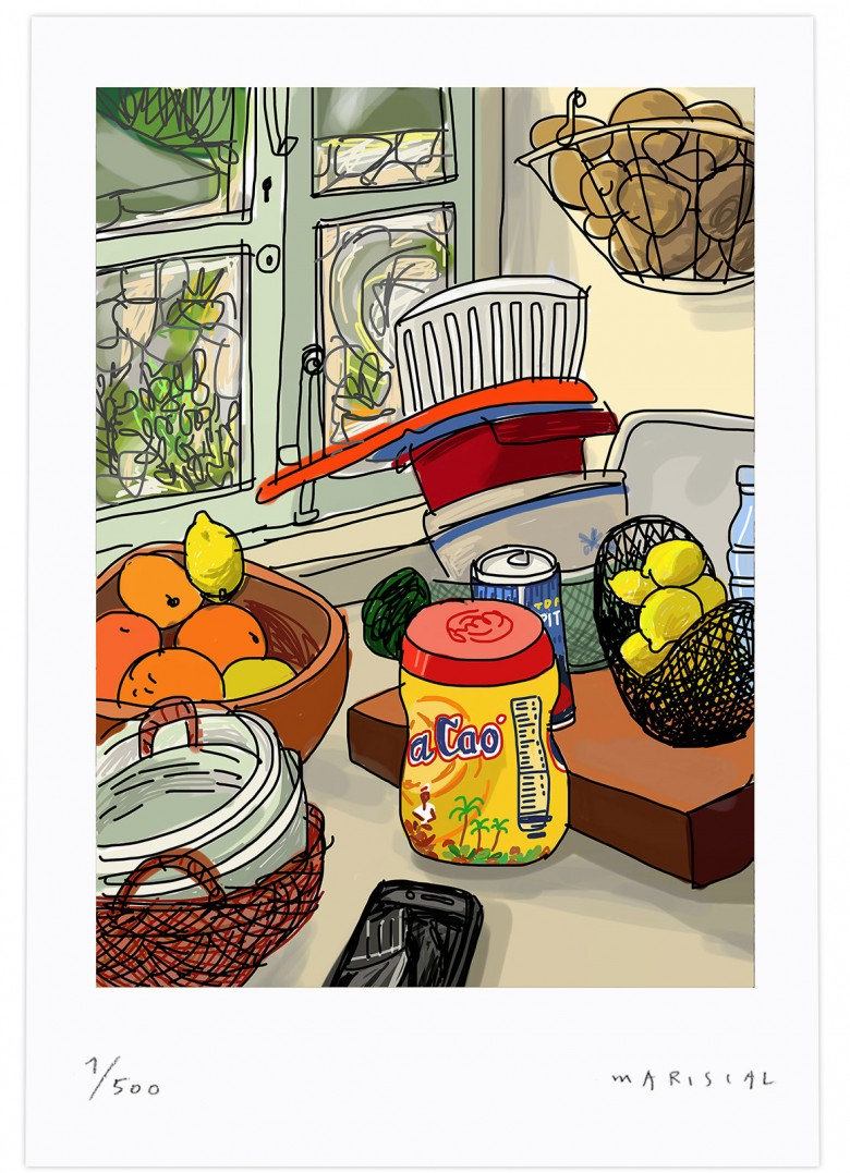 Still_life Colacao Window oranges lemons print art digital giclee Javier Mariscal